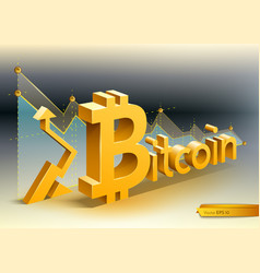 digital bitcoin cryptocurrency chart vector image