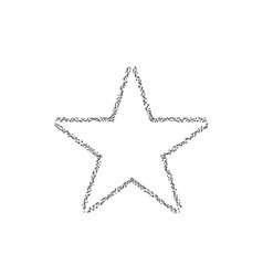 Dotted star shape vector