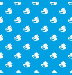 Duck pattern seamless blue vector