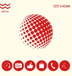 Earth logo - halftone sphere vector