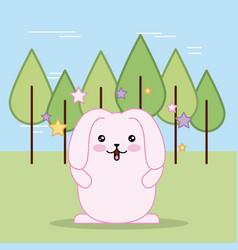 Easter day kawaii vector