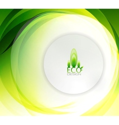 eco swirly wave abstract background vector image