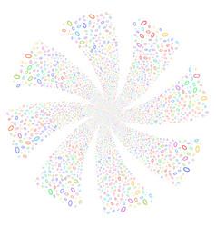 Ellipse bubble fireworks swirl flower vector