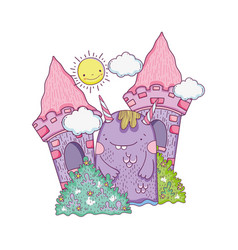 fairytale monster in the castle vector image
