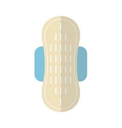 feminine pad sanitary napkin flat color icon of vector image