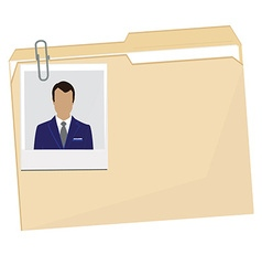 File folder with photo vector