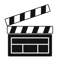 film clapper icon simple style vector image