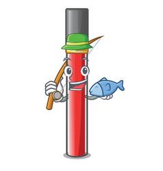 Fishing lip gloss in dompeet mekaup cartoons vector
