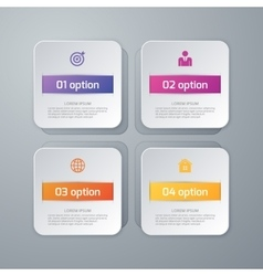 Four squares infographics vector