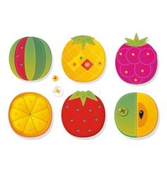 Fruit applique fabric vector