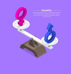 Gender signs on scales vector