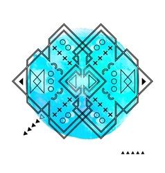 Geometric Hipster Print Futuristic Line Design vector image