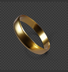 gold wedding ring 3d render golden ring vector image