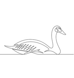 goose continuous line vector image