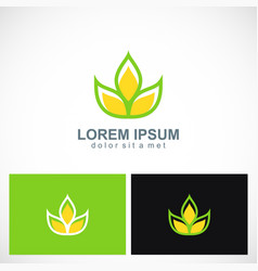 green leaf ecology beauty logo vector image