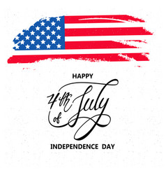 happy independence day or 4th july background vector image