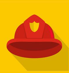 Helmet icon flat style vector