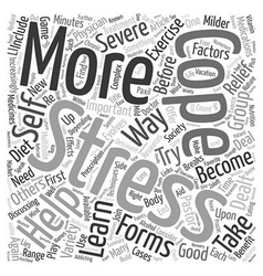How To Cope With Stress text background wordcloud vector image
