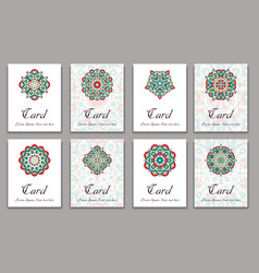 Invitation graphic card with mandala decorative vector