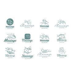 Logo of massage process vector