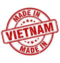 Made in vietnam red grunge round stamp vector