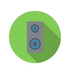 Music speaker flat icon vector image