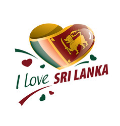 National flag sri lanka in shape a vector