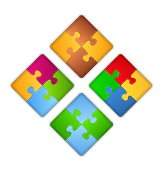 Puzzle Squares vector image