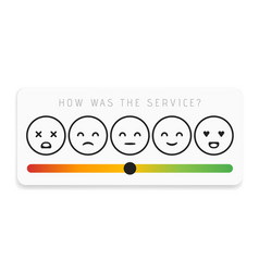 Rating satisfaction feedback in form emotions vector