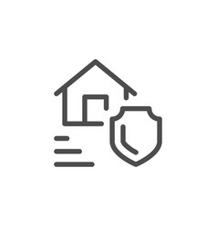 real estate insurance line icon vector image