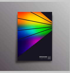 retro design poster with colorful gradient rays vector image