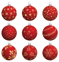 set of christmas new year balls for design use vector image