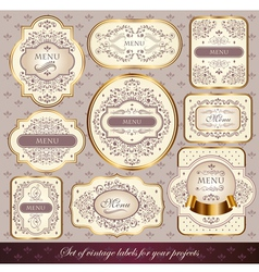 set of elegance labels vector image