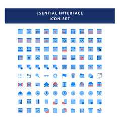 set page interface icon with flat style design vector image