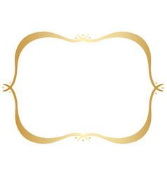 simple gold hand drawn border vector image