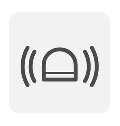 siren icon black vector image