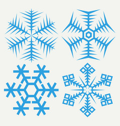snowflakes collection isolated on background flat vector image
