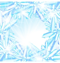 Sparkling ice crystals vector