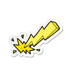 Sticker of a cartoon thunderbolt vector