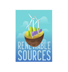 Sustainable energy sources green technology vector