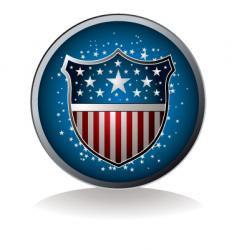 Us badge vector