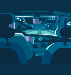 View from back seat of car vector