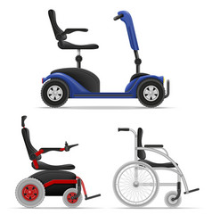 Wheelchair for disabled people stock vector