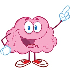Brain Character Pointing With A Finger vector image