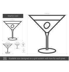 martini line icon vector image vector image