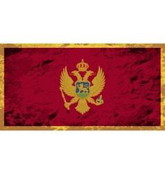 Montenegrin flag Grunge background vector image vector image