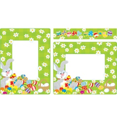 Easter borders vector image vector image
