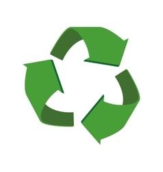 arrow recycle circle organic ecology icon vector image