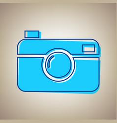 digital photo camera sign sky blue icon vector image vector image