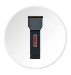 Electric flashlight icon circle vector